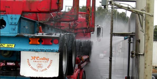 Wheel Wash in Wash Bay - Truck Wash