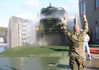 Mobile Military Vehicle Wash