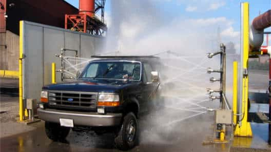 Heavy Duty Wheel Wash for exiting industrial site